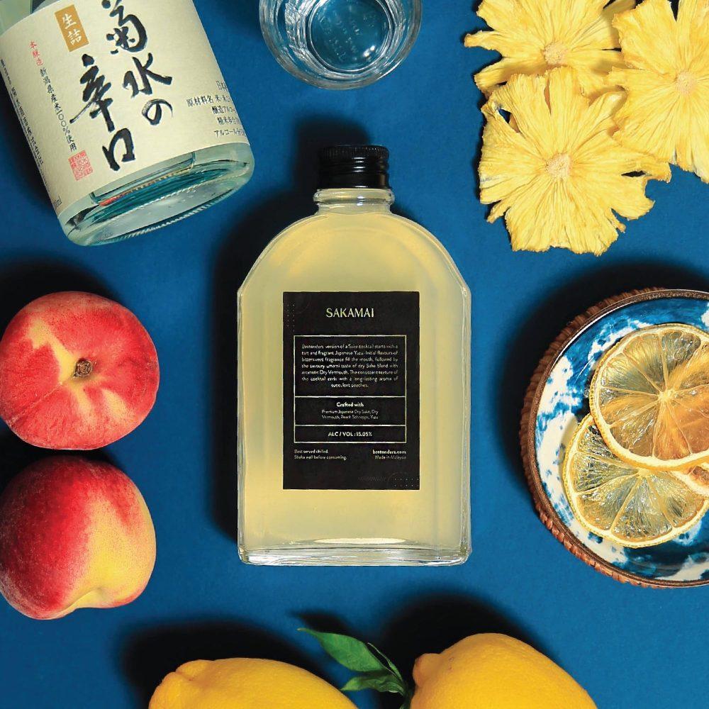 Peach Schnapps Vermouth Sake Cocktail