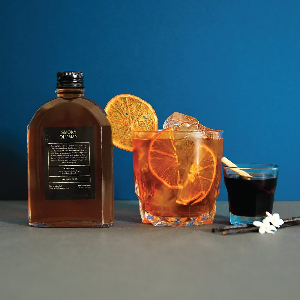 Smoky OldMan Bourbon Cocktail Delivery in Malaysia